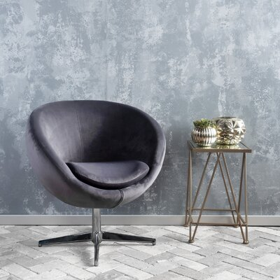 Ted Modern Barrel Chair Upholstery: Gray