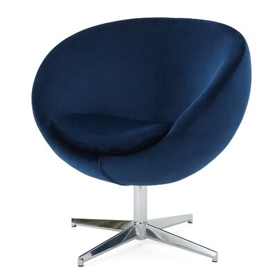 Ted Modern Barrel Chair Upholstery: Navy Blue
