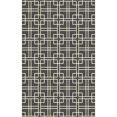 Alysha Charcoal/Ivory Geometric Area Rug Rug Size: Rectangle 5 x 8