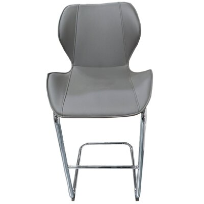 Kenia 27 Bar Stool Upholstery: Grey