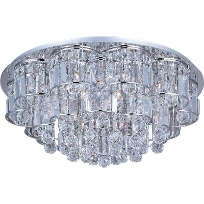 Cepheus 12-Light Flush Mount Size: 11.5 H x 26 W