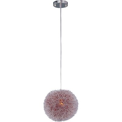 Azaleh 1-Light Pendant Glass Color: Red