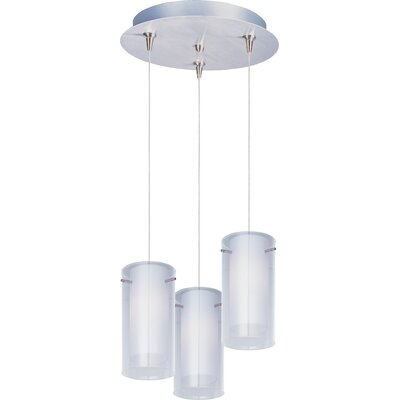 Echo Contemporary 3-Light Metal RapidJack Pendant and Canopy Finish: Satin Nickel
