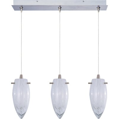 Echo White Cirrus 3-Light RapidJack Pendant and Canopy