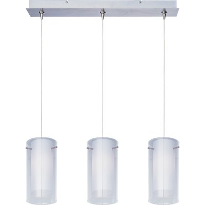 Echo 3-Light Steel RapidJack Pendant and Canopy Finish: Satin Nickel