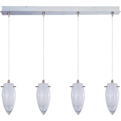 Straton White Cirrus 4-Light RapidJack Pendant and Canopy