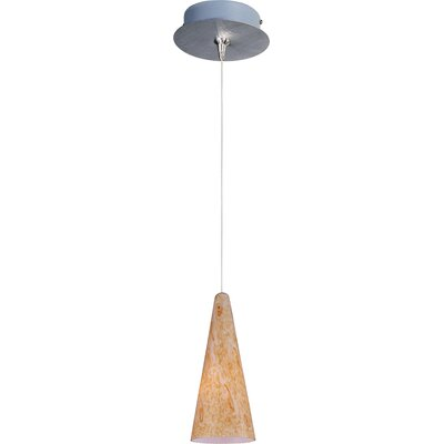 Straton 1-Light RapidJack Pendant and Canopy Glass Color: Gold Lava, Finish: Satin Nickel