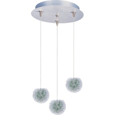 Straton 3-Light RapidJack Pendant and Canopy Glass Color: Green