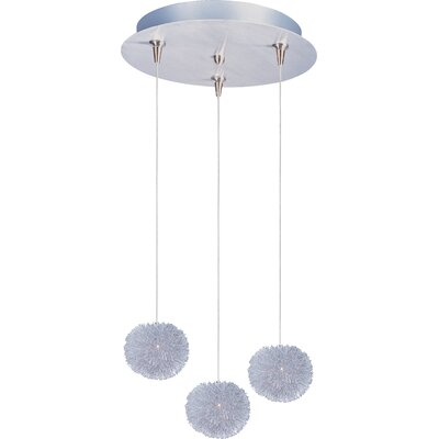 Echo 3-Light RapidJack Glass Shade Pendant and Canopy Glass Color: Clear