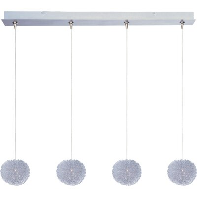 Straton 4-Light RapidJack Pendant and Canopy Glass Color: Clear