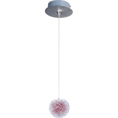 Straton 1-Light RapidJack Pendant and Canopy Glass color: Red