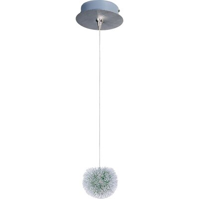 Echo Modern 1-Light Metal RapidJack Pendant and Canopy Glass color: Green