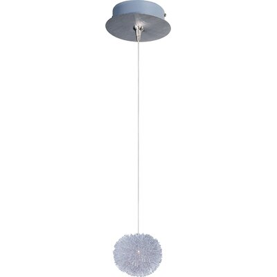 Echo Modern 1-Light Metal RapidJack Pendant and Canopy Glass color: Clear