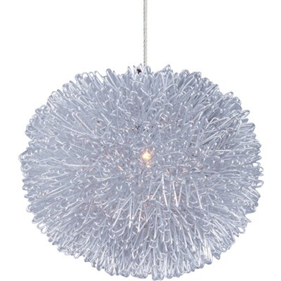 Echo 1-Light RapidJack Geometric Pendant Glass Color: Clear