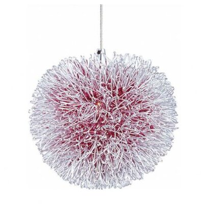 Echo 1-Light RapidJack Geometric Pendant Glass Color: Red