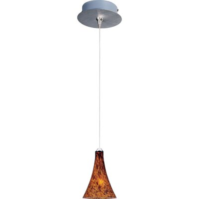 Straton 1-Light RapidJack Pendant and Canopy Glass Color: Amber Leopard, Bulb Type: GY6.35 T4 Xenon, Finish: Bronze