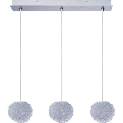 Straton 3-Light RapidJack Pendant and Canopy Glass Color: Clear