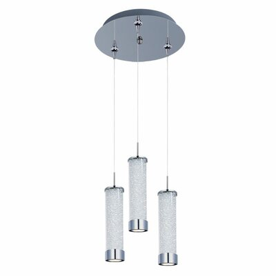 Mendosa 3-Light LED RapidJack Pendant and Canopy Shade Color: Clear Iridescent