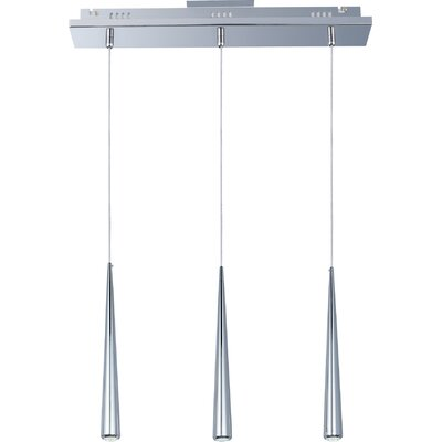 Ajax 3 LED Integrated Bulb Kitchen Island Pendant