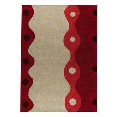Seabury Red Area Rug Rug Size: 5'6