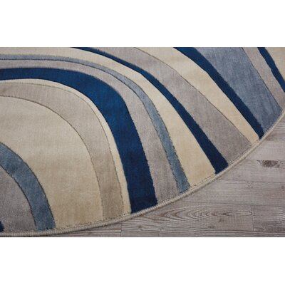 Cherell Ivory/Blue Area Rug Rug Size: Rectangle 53 x 75