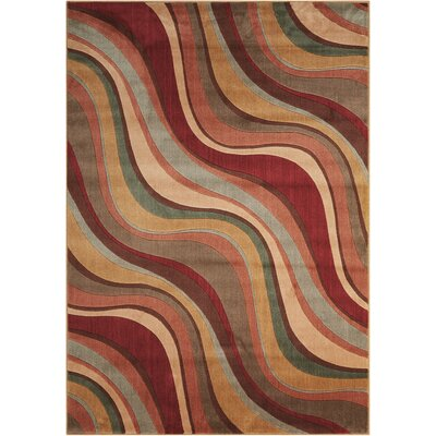Cherell Brown/Beige Area Rug Rug Size: Rectangle 56 x 75