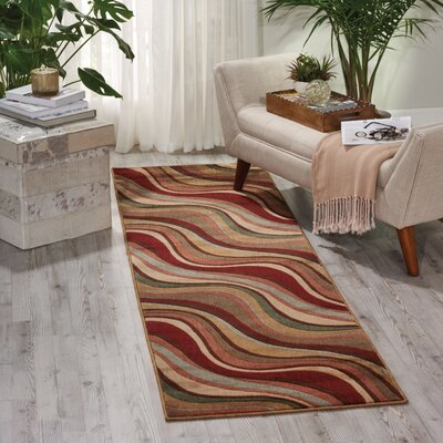 Cherell Brown/Beige Area Rug Rug Size: Runner 23 x 8