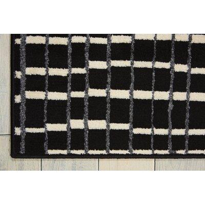 Alcanza Black Area Rug Rug Size: 53 x 73