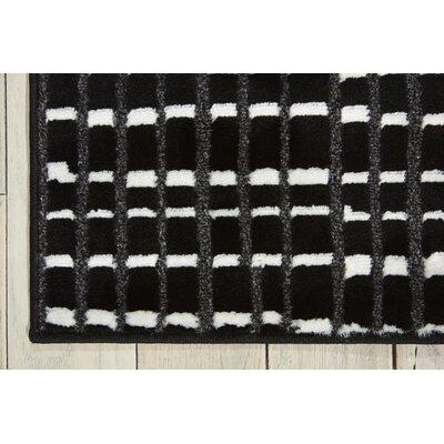Alcanza Black Area Rug Rug Size: Runner 22 x 73