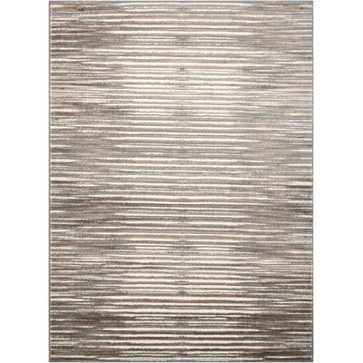 Shannon Ivory/Gray Area Rug Rug Size: 710 x 106