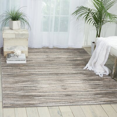 Brady Ivory/Gray Area Rug Rug Size: Rectangle 311 x 53