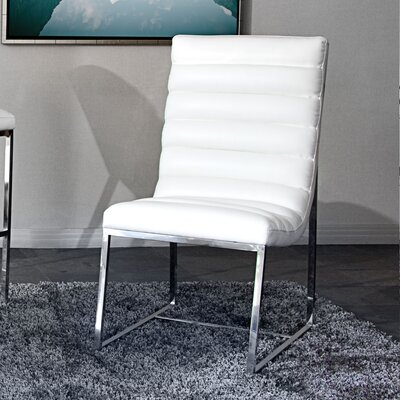 Olney Side Chair (Set of 2) Upholstery: White