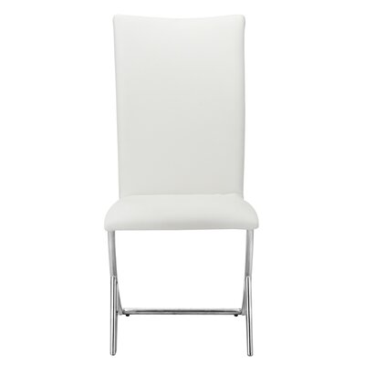 Ashwood Leatherette Parsons Chair Upholstery: White