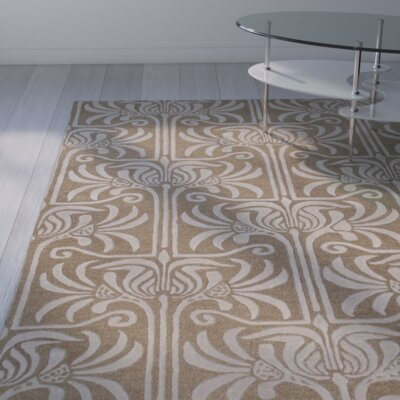 Cullen Brown Area Rug Rug Size: 33 x 53