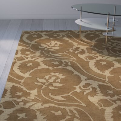 Milligan Teak/Beige Area Rug Rug Size: Rectangle 9 x 13