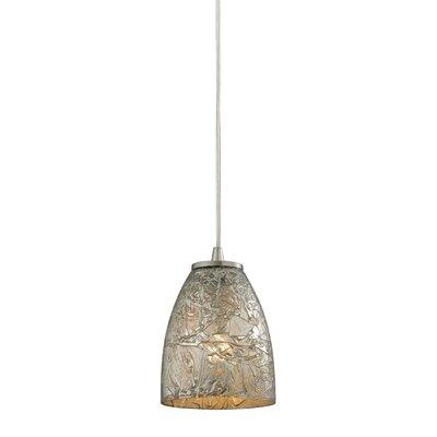 Lucy 1-Light Mini Pendant Shade Color: Silver