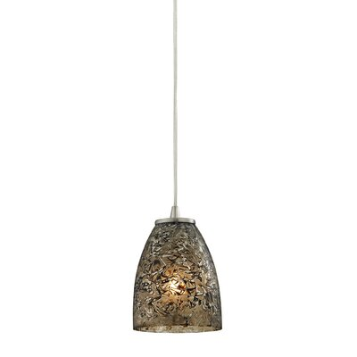 Lucy 1-Light Mini Pendant Shade Color: Smoke
