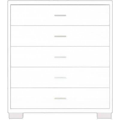 Boulton 5 Drawer Standard Chest Color: White Gloss