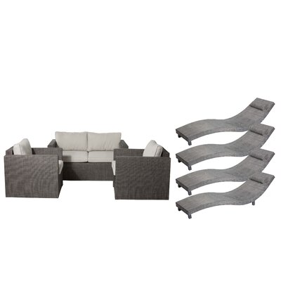 Carrigan 7 Piece Patio Set with Cushion