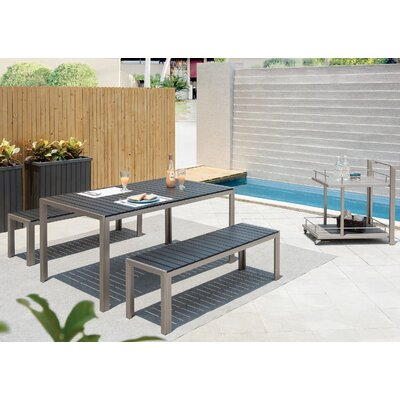 Carrell 4 Piece Dining Set Finish: Gray