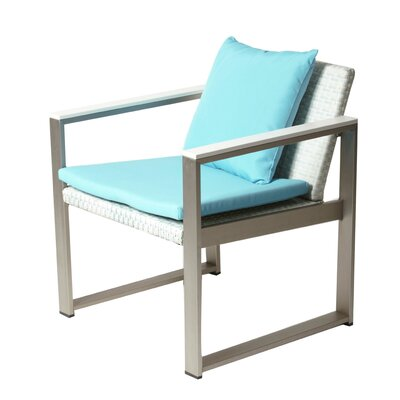 Lindquist 13 Piece Patio Set with Cushion Finish: White, Fabric: Turquoise