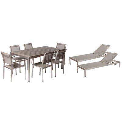 Lindquist 9 Piece Patio Set Finish: Gray