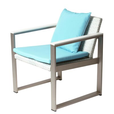 Carrell 13 Piece Patio Set with Cushion Finish: White, Fabric: Turquoise
