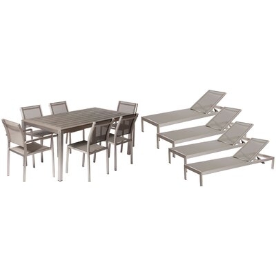 Lindquist 11 Piece Patio Set Finish: Gray