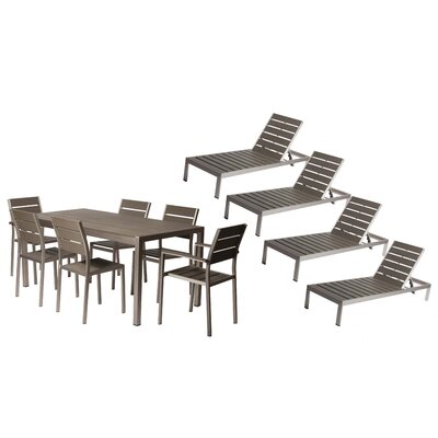 Carrell 11 Piece Patio Set Finish: Gray