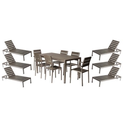 Murdoch 13 Piece Patio Set Finish: Gray