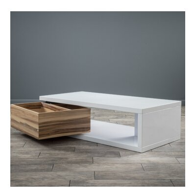Delwood Coffee Table Color: White