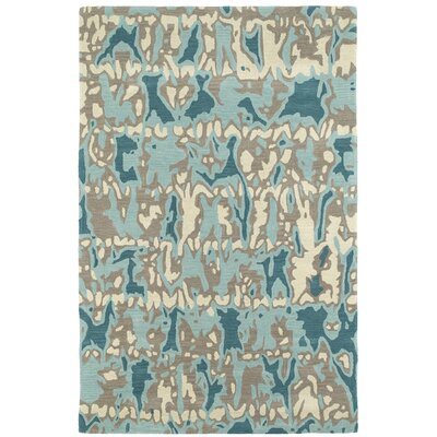 Charlayne Hand Tufted Beige/Blue Area Rug Rug Size: Rectangle 8 x 10