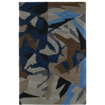 Charlayne Hand Tufted Blue/Brown Area Rug Rug Size: 9 x 12
