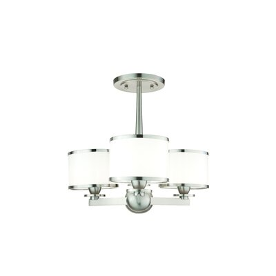 Belhaven 3-Light Mini Chandelier Finish: Satin Nickel